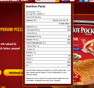 hot pocket pepperoni pizza screen shot
