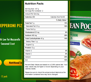 lean pock pepperoni pizza screen shot