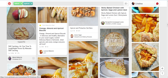 Pinterest apricot screen shot